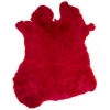 Rabbit Fur Skin - Medium Grade  Dyed Red (1pc)